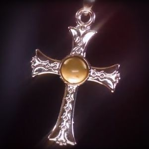 Silver-Styled Cross Necklace