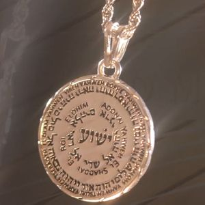 Names of God Medallion Necklace