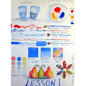 Beginning, Beginning Watercolor Series, Tuesdays, May 7-28, 10am-12:30pm