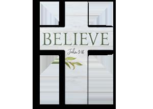 Believe Wood Cross