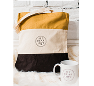 SEE HEAR LOVE - MUG & TOTE