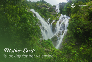 Mother Earth Waterfall Valentine
