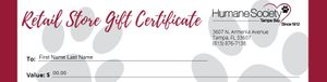 Retail Gift Certificate