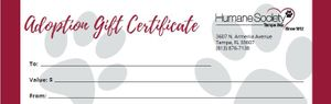 Adoption Gift Certificate