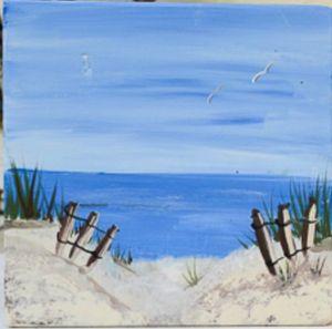 Cocktails & Creations: Life Is a Beach - Acrylic on Canvas