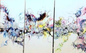 Cocktails & Creations: Acrylic Dutch Pour Triptych - on Canvas