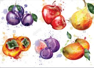 Cocktails & Creations: Summer Fruits in Watercolor
