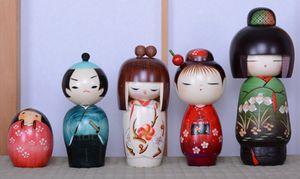 Japanese Kokeshi Figures