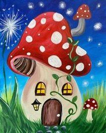 Mushroom: Acrylic on Canvas