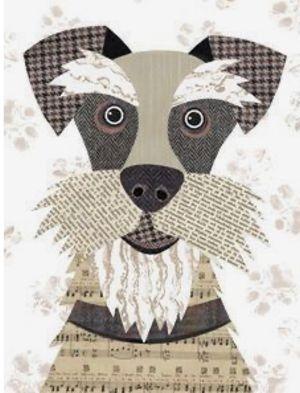 Pet Portraits Paper Collage
