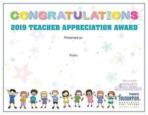 TA Congratulations Certificate