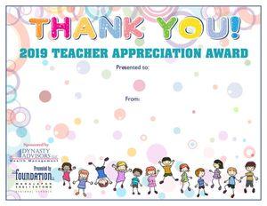 TA Thank You Certificate
