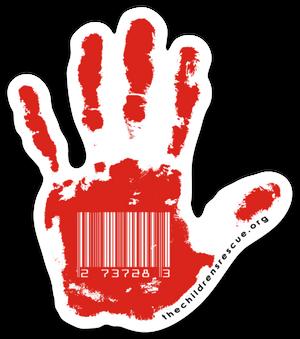 Red Hand Die-Cut Sticker