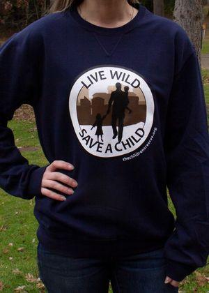 Navy Blue Live Wild Save A Child Sweatshirt