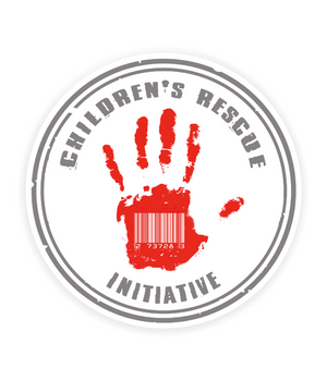 Red Hand Circle Sticker