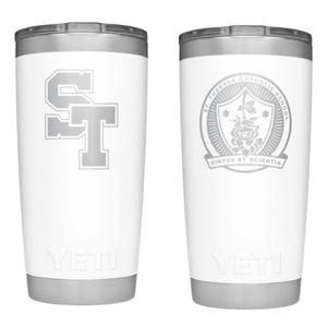 20oz YETI ENGRAVED WHITE TUMBLER