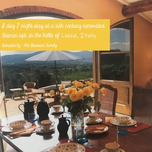 8 day, 7 night stay in a 16th century renovated villa in the Lucca Hills (Italy)