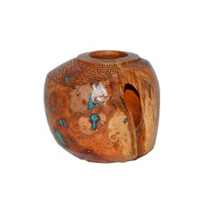 """Cherry burl, turquoise inlay multi-axis 5""""t x 6"""""""