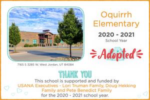 Oquirrh Elementary 2020-21 School Year