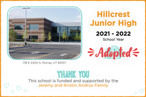 Hillcrest Junior High 2021-22 School Year
