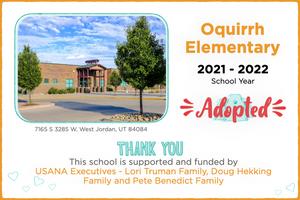 Oquirrh Elementary 2021-22 School Year
