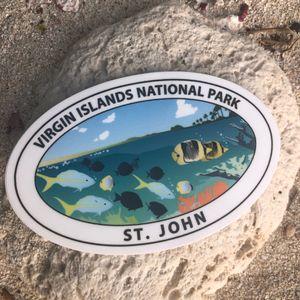 VI National Park Marine Life Sticker