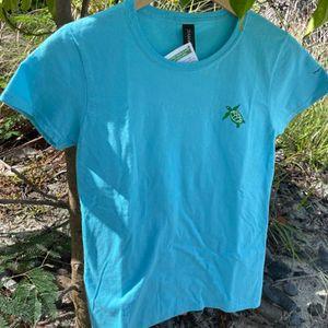 Aqua Turtle Adult T-Shirt