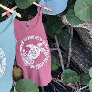 Sea Turtle Protection Womens Red Tank