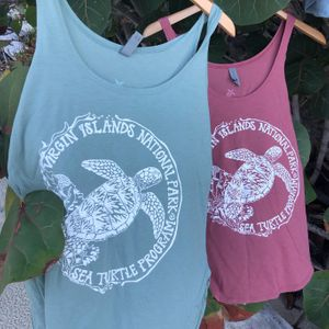 Sea Turtle Protection Womens Green Tank