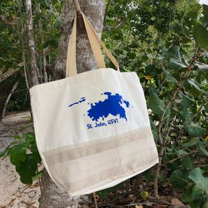 STJ Island Map Canvas Tote