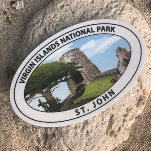VI National Park History Sticker