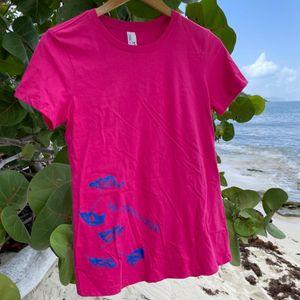 Pink Stingray Womens T-Shirt