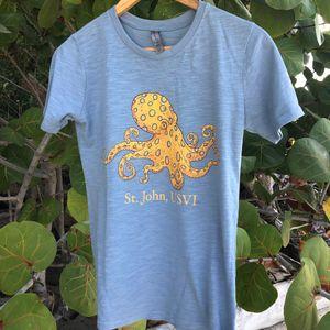 Octopus Blue Womens T-Shirt