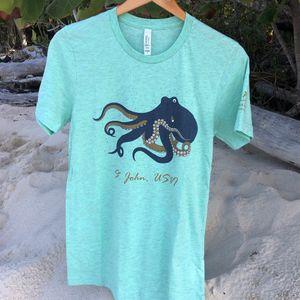 Octopus Green Mens T-Shirt