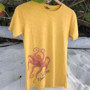 Octopus Mustard Womens T-Shirt
