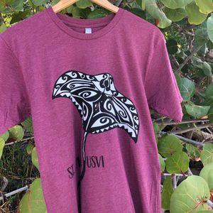 Stingray Purple Adult T-Shirt