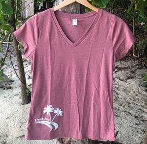 Dusty Rose Trunk Bay Womens T-Shirt