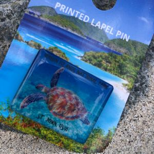 VI National Park Turtle Pin