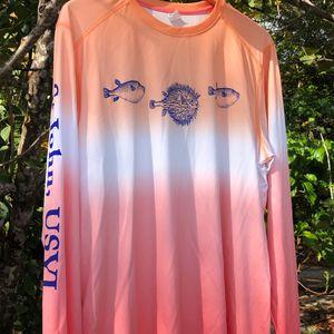 Coral Ombre Long Sleeve  Rash guard