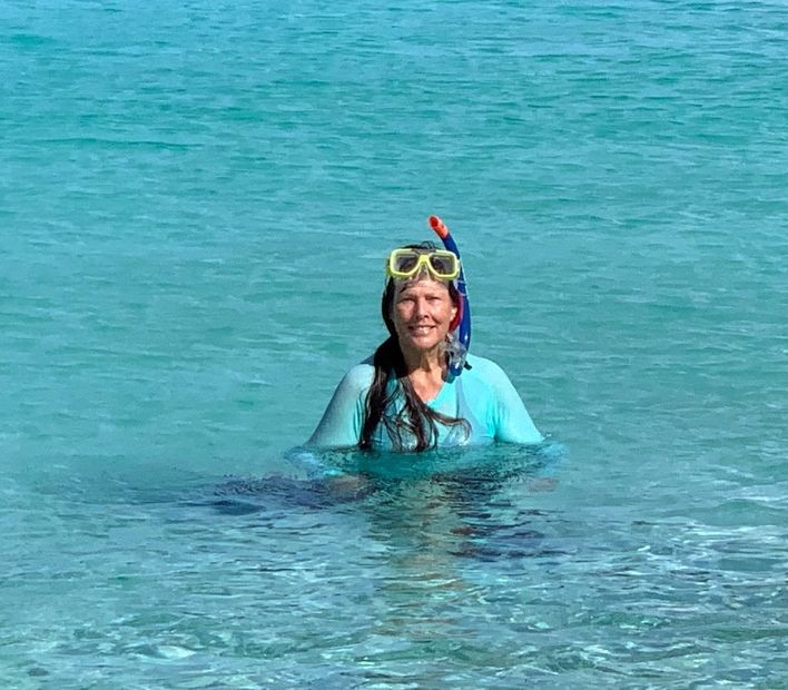 Kimberly Boulon Swims Trunk Bay for the Kids