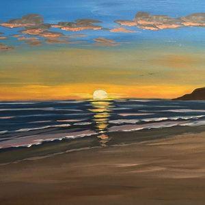Jan 23 - FREE CLASS: Acrylic Painting - Beach Sunset