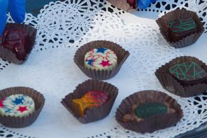 2019 Culinary Crawl serves gourmet chocolates in the Courtyard
