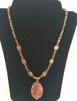 Fossilized Coral & Jasper Necklace