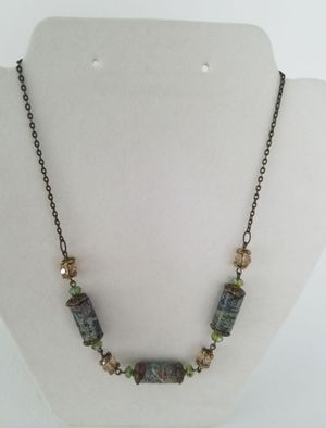 Rainforest Marble & Crystal Necklace