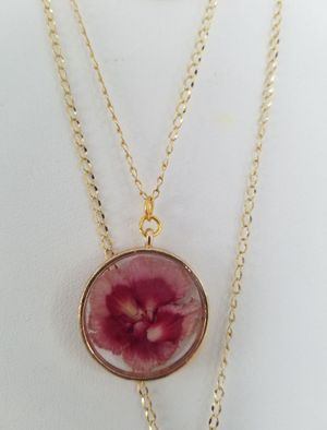 Pink Carnation Necklace