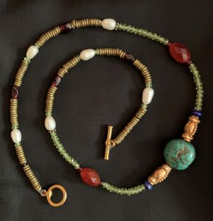 Mixed Gemstone Beaded Necklace