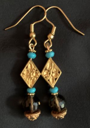 Mixed Gemstone & Glass Earrings #1