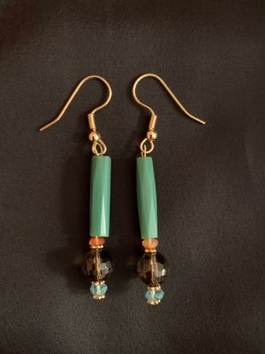 Mixed Gemstone & Glass Earrings #2