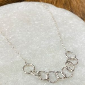 Alicia Silver Link Necklace