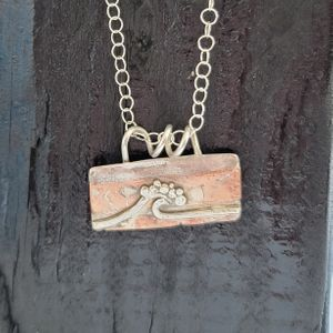 Mixed Metal Wave Necklace